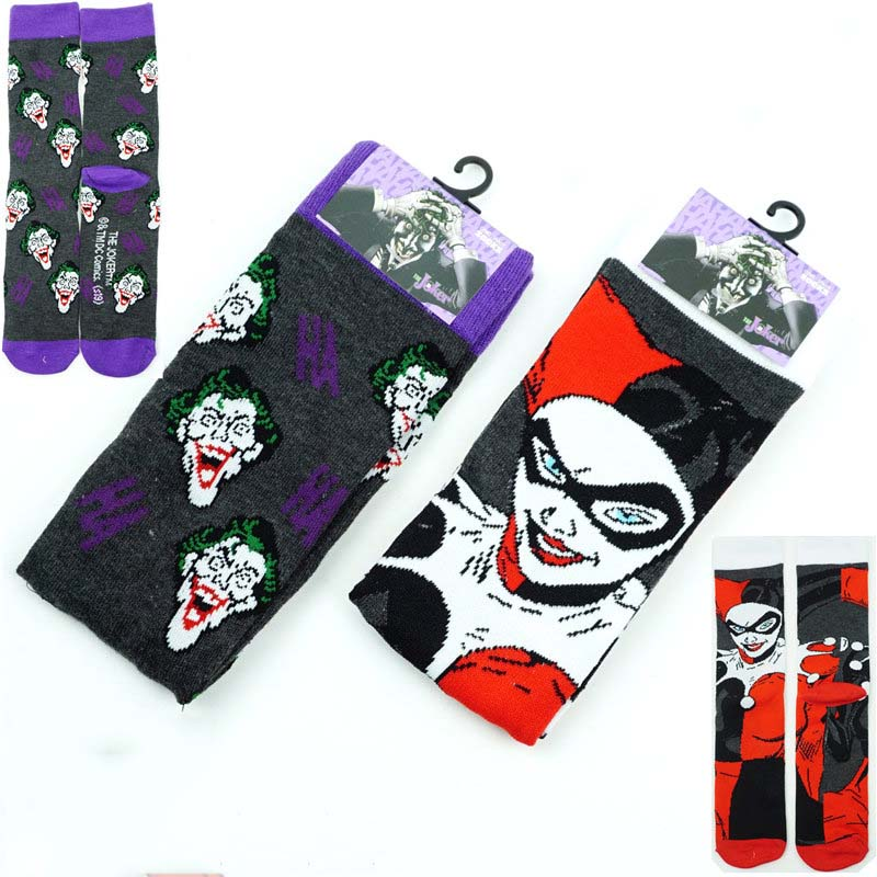 Cartoon Clown Socks Cute Fashion Long Couple Casual Dress Skateboard Socks Colorful Stockings Lolita Cosplay Gift