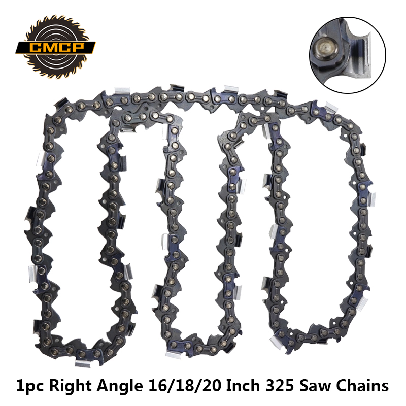1pc 16/18/20 Inch Right Angle Chainsaw Chain 0.325''LP 058 Saw Chains 325 64/72/76 Drive Links Fit For Electric Saw Chains