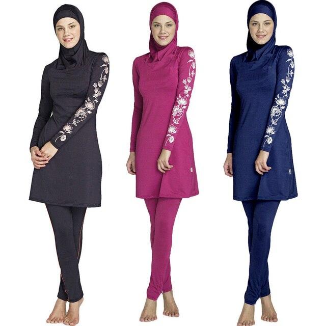 2017 New muslim swimwear islamic swimsuit modest swimwear swimsuit for women