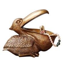 ERMAKOVA Toucan heykelcik anahtar depolama tutucu pelikan heykeli hayvan kuş heykel ev masaüstü dekorasyon süs hediye