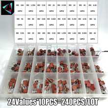 240pcs 382 392 24Values Blow Cylindrical Fuse 0.5A 1A 1.25A 2A 3.15A 4A 5A 6.3A 8A 10A Amp For LCD TV Power PCB Insurance Kit