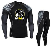 MMA männer UFC Thema Mode Fitness T-Shirt Bodybuilding Compression Sets Hemd Männer MMA Punisher T Hemd Crossfit Muscle Shirt(China)