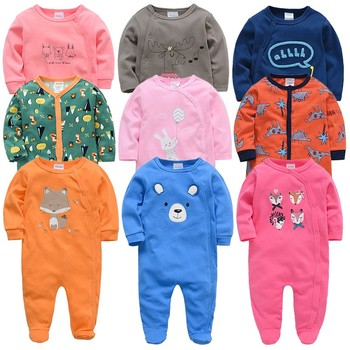 Autumn Newborn Girl Jumpsuit spring pure Cotton baby girl clothes Cartoon Long Sleeve Casual clothing for boys Infant