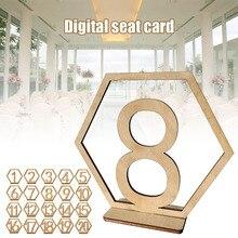 20 шт Настольные номера карточки с рассадкой гостей на свадьбе квадратный стол для чисел и символов для украшения свадебной вечеринки DC120