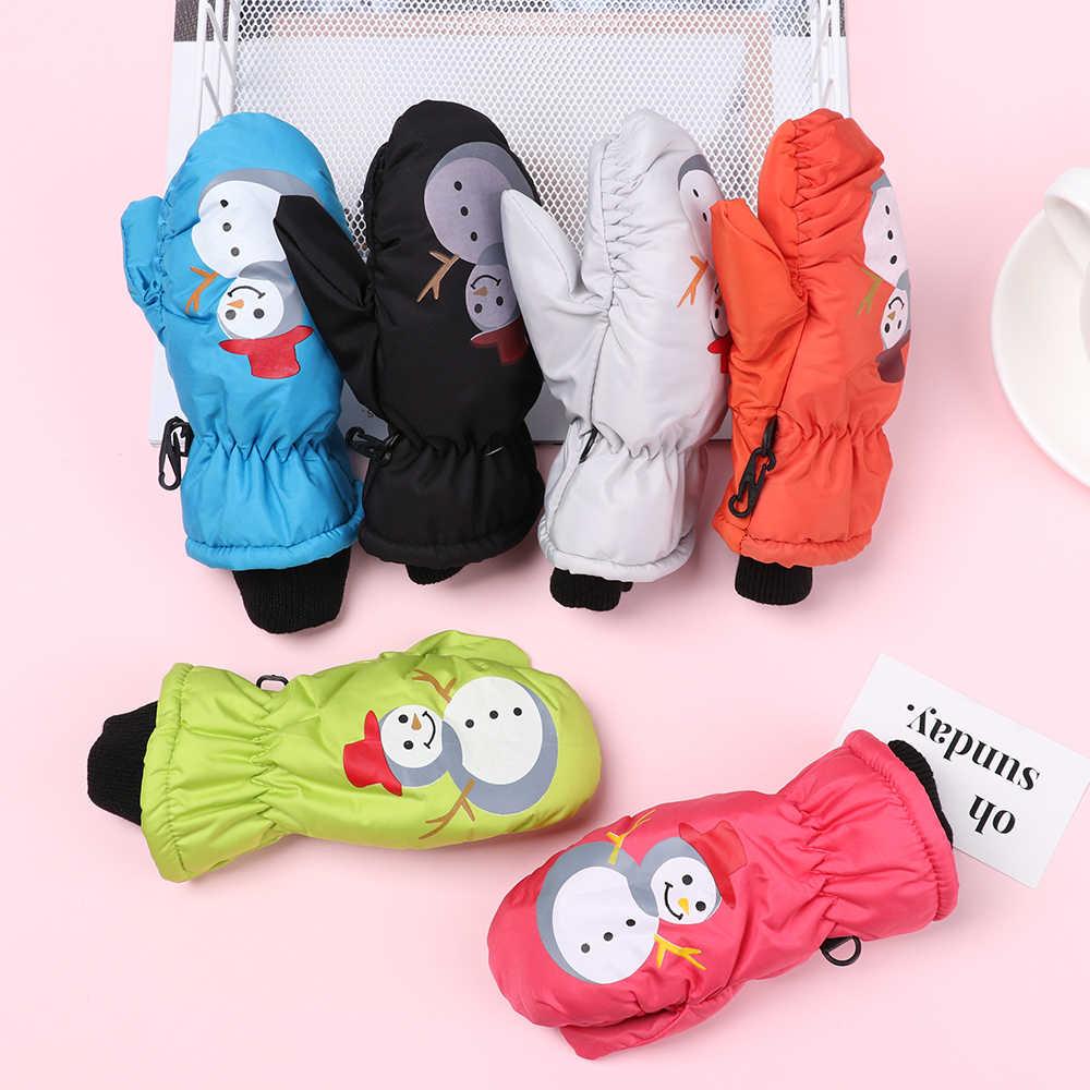 Winter Warm Ski Boy Girl Kids Knitted Children Anti-slip Rubber Non-slip Gloves