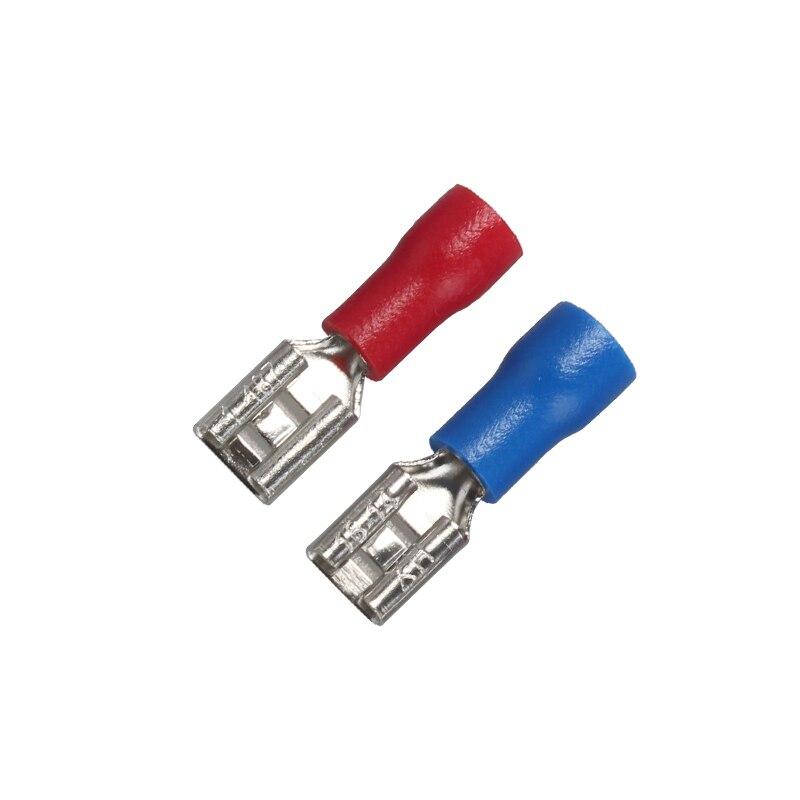 50 шт., 2,8 мм, 4,8 мм, 6,3 мм, изолированное уплотнение, проволочный соединитель, Женский обжимной терминал, набор электрических обжимных клемм