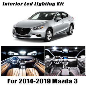 8Pcs Accessories Car interior lights upgrade Kit for 2014 2015 2016 2017 2018 2019 Mazda 3 led interior Dome Trunk lights