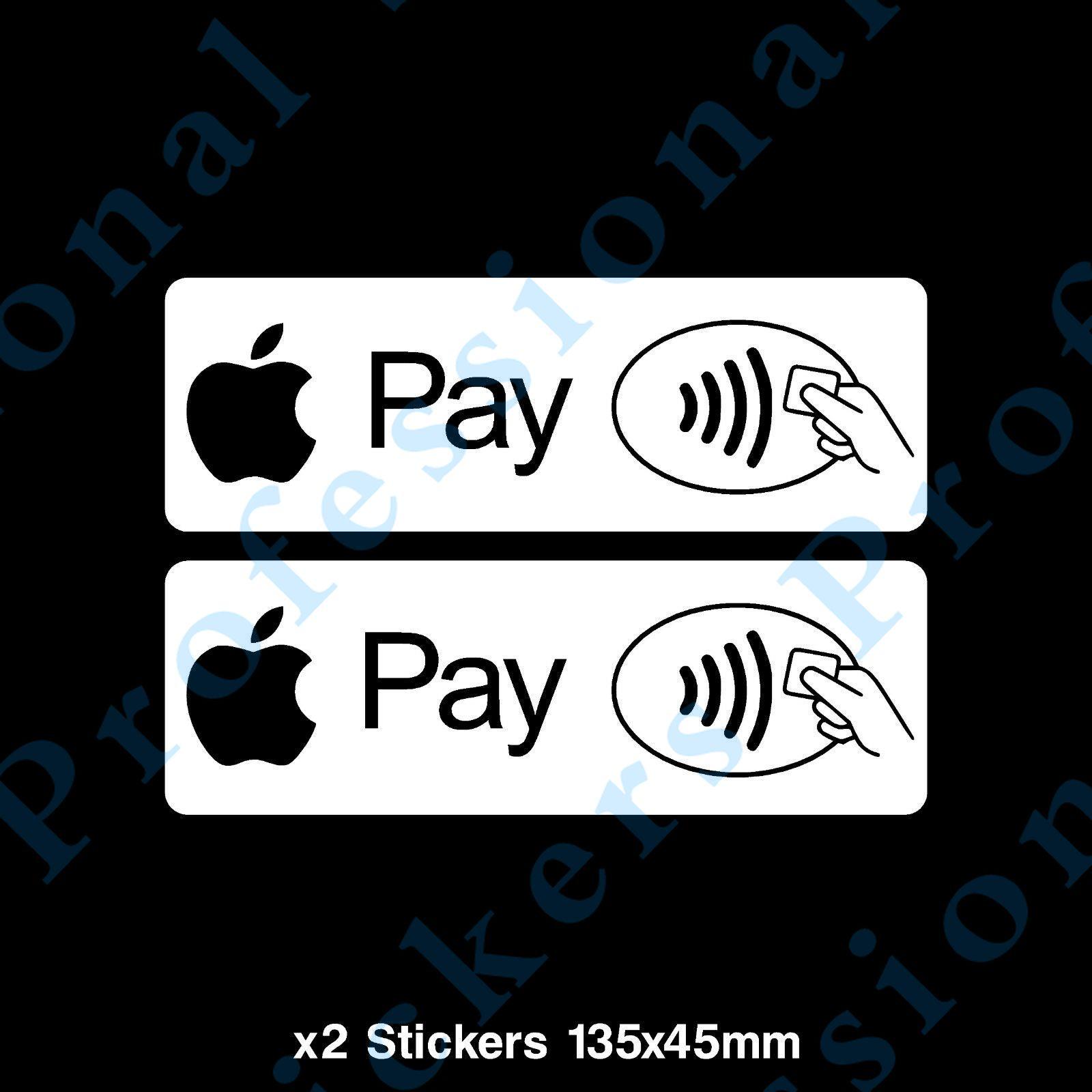 2x бесконтактной оплаты Apple Pay Стикеры-магазин, кафе, футболки с рисунком «Такси» бизнес (CC045) Водонепроницаемый виниловые наклейки для автомо...