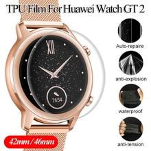 Протектор экрана ясно полное покрытие защитная пленка для Huawei часы ГТ 2 мягкие TPU Hydroge защитная пленка экрана 42мм 46мм