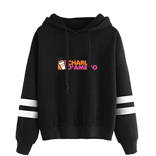 2020 New Ice Coffee Splatter Hoodies Hommes Femmes Sweat-shirt Charli Damelio Merch Pull Mode blanc3,XS