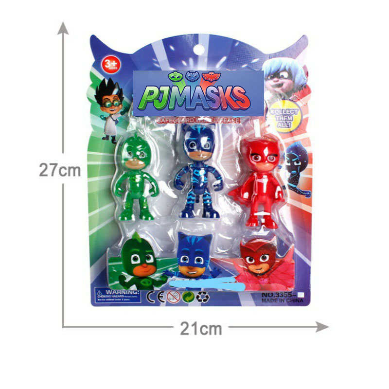 3pcs Pj Masks Flexible Limbs Character Toy Cartoon Anime Pj Catboy Owlette Gekko Action Figures Boys Toys For Children P03