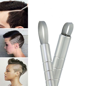 Hot Hairstyle Engraved Pen+10Pcs Blades Professional Hair Trimmers Hair Styling Eyebrows Shaving Salon DIY Hairstyle Accessory 1