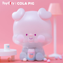 Original TOYCITY Toy City Coke Pig Blind Box Toy Doll Determined Style Cute Anime Character Girl Gift Free Shipping