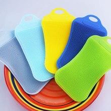 1 шт., силиконовая щётка для чистки кухонной посуды