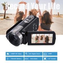 디지털 비디오 카메라 HDV 302P 24mp 1080 p 풀 hd 디지털 카메라 16x 디지털 줌 3.0 인치 손떨림 방지 3.0mp cmos dv 캠코더