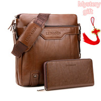 Arrival Fashion Business Leather Men Messenger Bags Briefcase For Document Handbag Satchel Portfolio Brief Case Bag For Phone