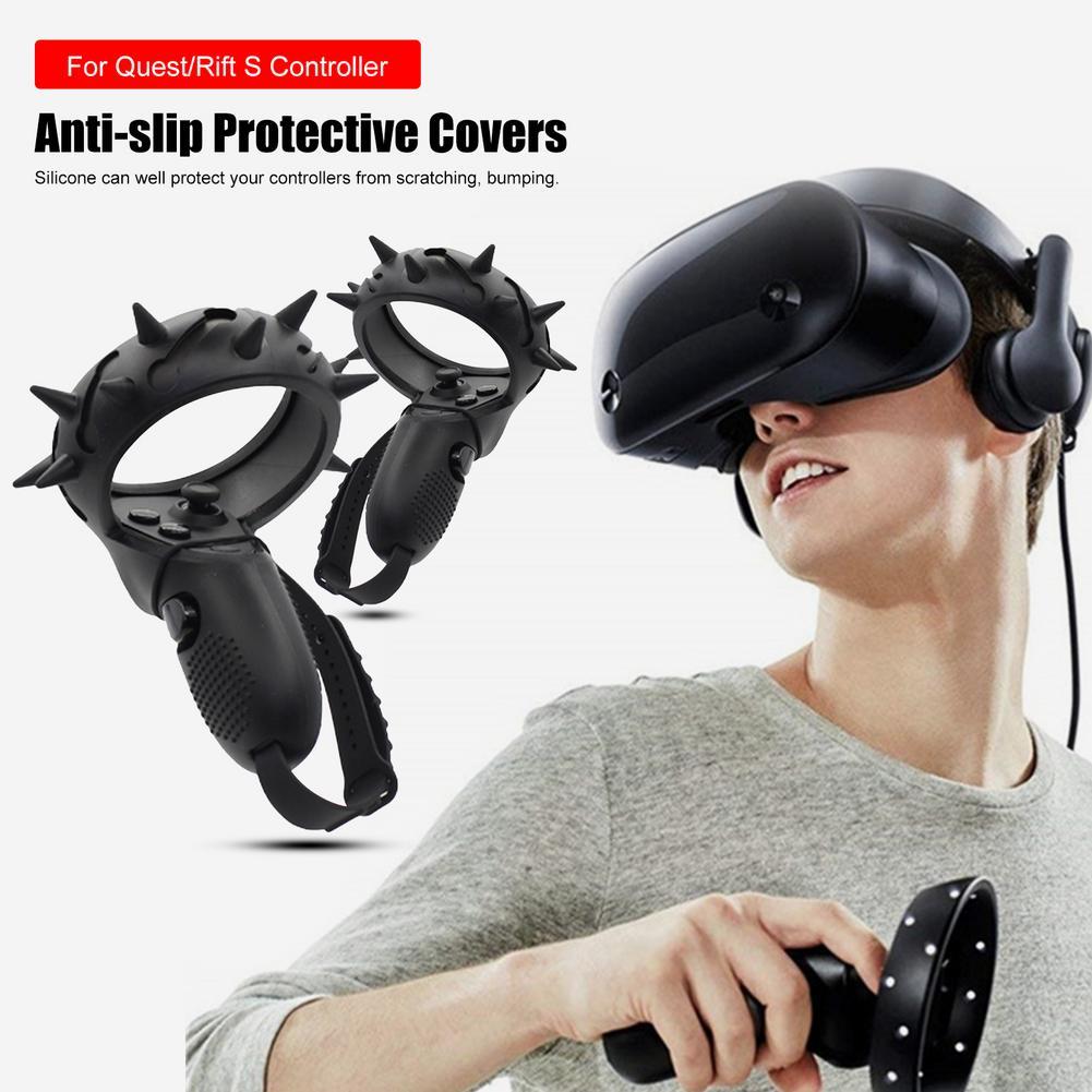 Vr acessórios para oculus quest/rift s capa de proteção vr controlador alça capa de silicone proteção completa