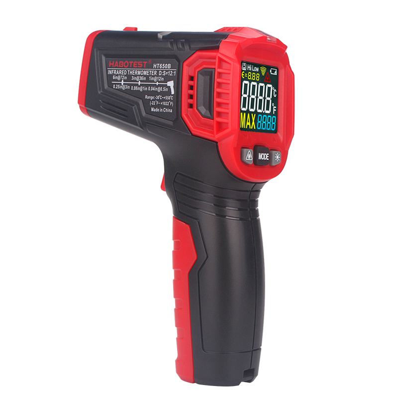 Image 5 - Habotest HT650B temperature meter laser infrared digital  termometer outdoor meteo stationTemperature Instruments   -