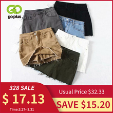 GOPLUS Female Jeans Skirts Shorts Black Summer Clothes White High-Waisted Women Mujer