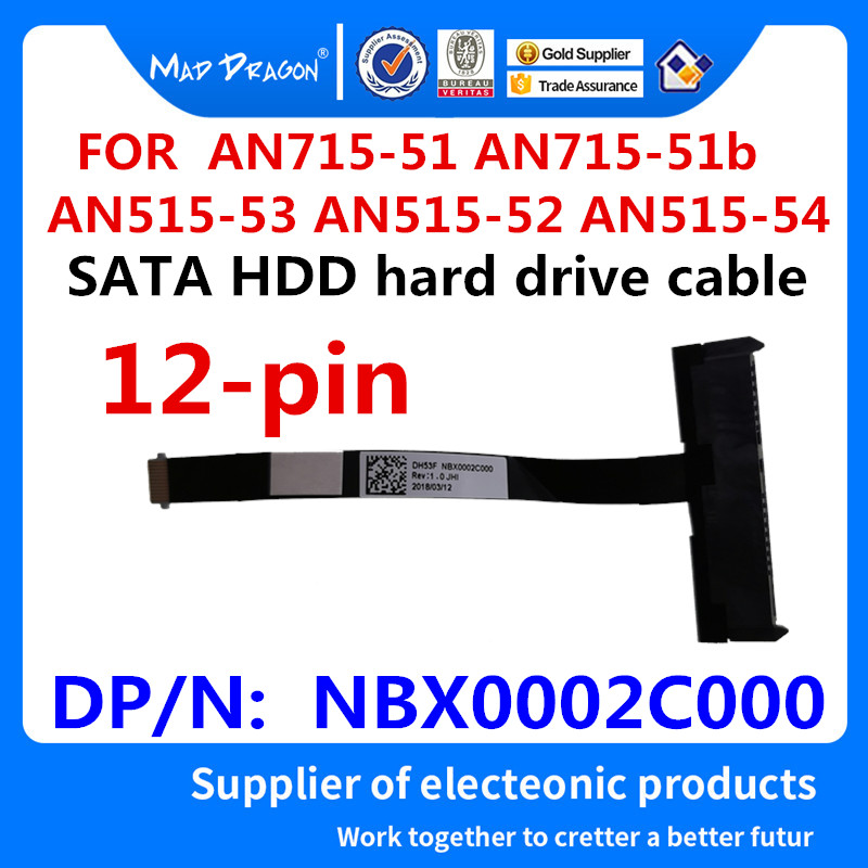 MAD DRAGON Brand NEW SATA HDD Hard Drive Cable Disk Connector For ACER AN715-51 AN715-51b AN515-53 AN515-52 AN515-54 NBX0002C000
