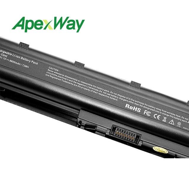ApexWay 11.1v batterie dordinateur portable pour HP mu06 CQ42 CQ62 G4 G6 G7 G7 DM4 DV3 DV5 DV6 DV7 HSTNN-UBOW hstnn-lb0w 593554-001 593553-001