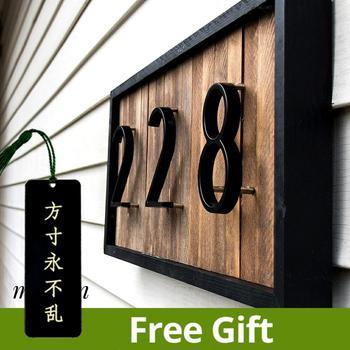 125mm 플로팅 하우스 번호 편지 큰 현대 문 알파벳 홈 야외 5 인치 블랙 번호 주소 플라크 대시 슬래시 로그인 #0-9