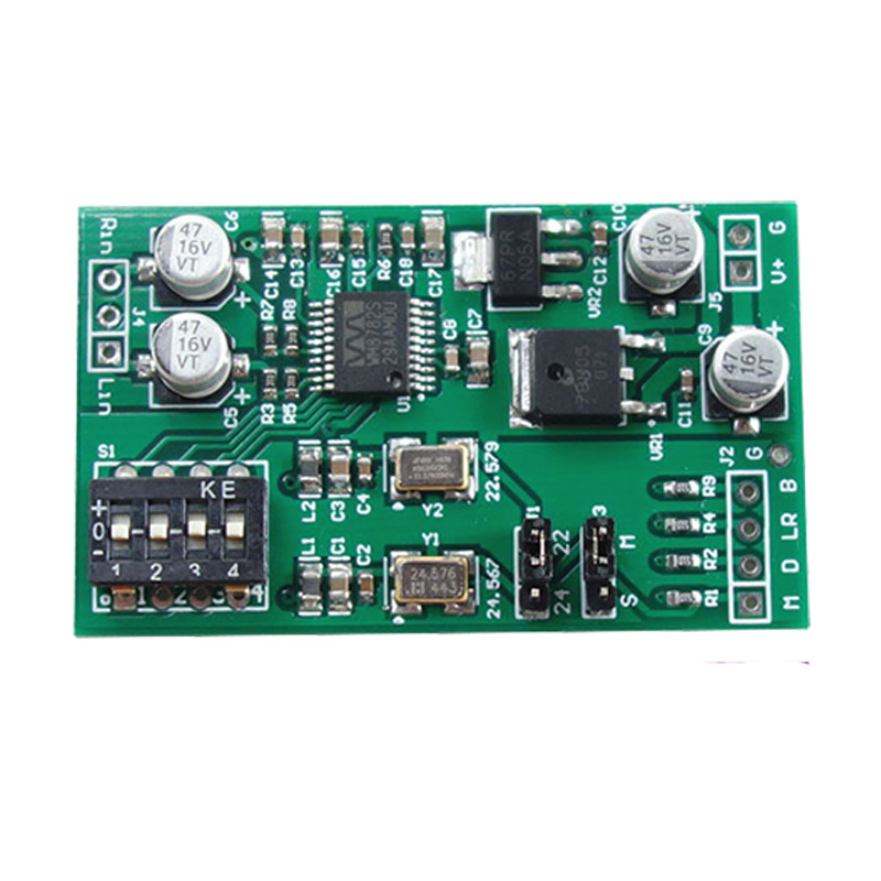 Dual-channel 24-bit ADC Data Acquisition Card AUX Analog Audio To I2S Left-right Aligned Digital Output Module