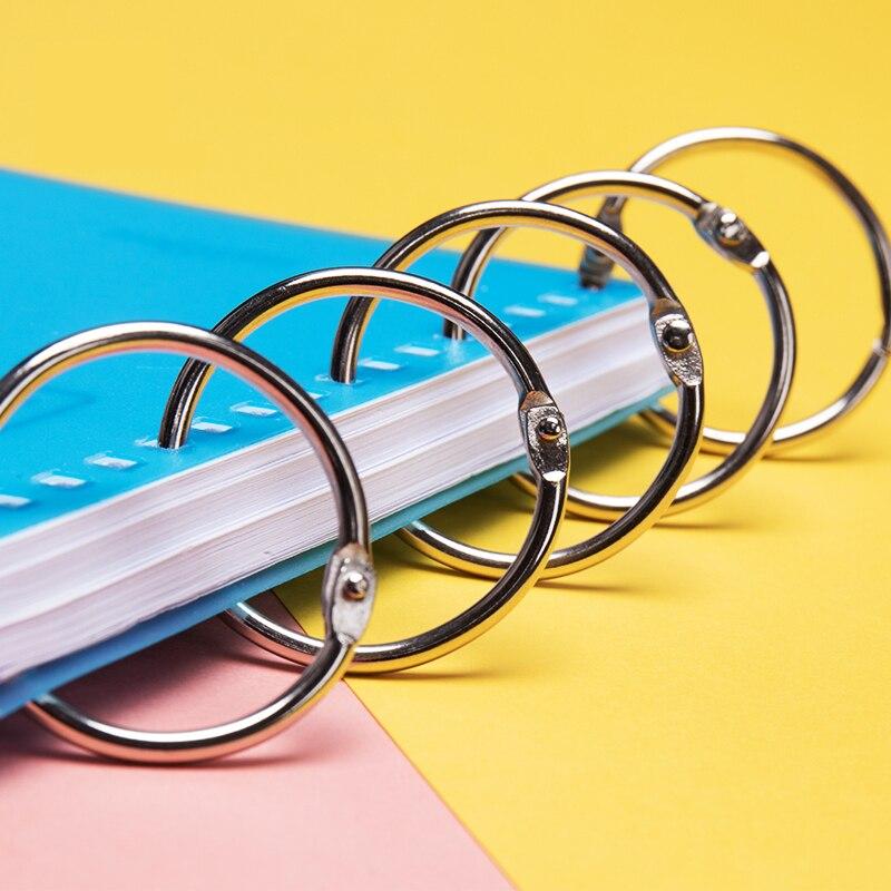 10pcs 20mm Metal Book Binder Rings DIY Loose-leaf Hoops Keychain Album Ring Scrapbook Binders Craft Photo Album Binding Supplies