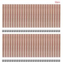 50 Uds. De madera para hacer velas, mecha, vela, núcleo sostenible, lengüeta, bricolaje, para hacer velas, cera de soja, Parffi 13/12.5/8mm