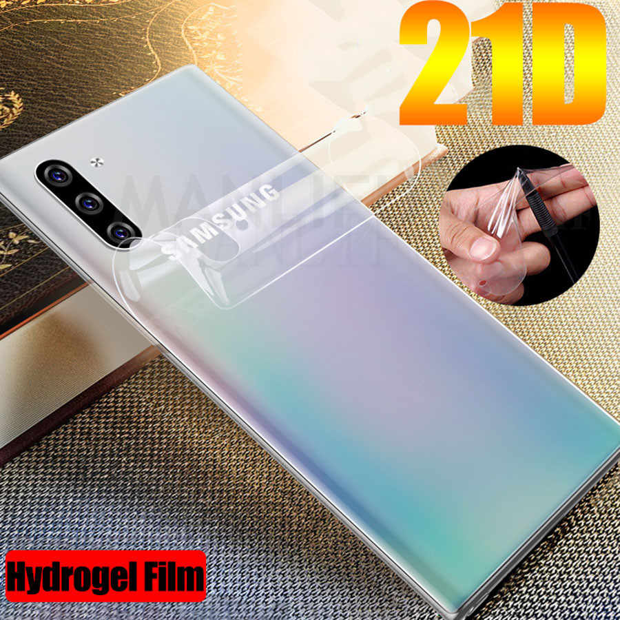 21D Front Back Soft TPU Film For Samsung Galaxy Note 10 Pro 10 Plus Sticker Hydrogel Screen Protector Galaxy A40 A50 A70 S9 S10