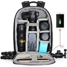Sac à dos étanche pour appareil photo DSLR, avec Port de chargement USB, étui de photographie pour Drone Nikon, Canon, Sony, Panasonic, Pentax, Fujifilm