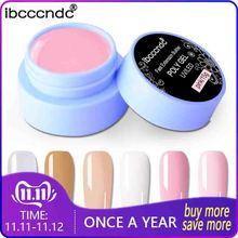 15g Polygel Nail Acrylic Poly Gel Pink White Clear Crystal UV LED Builder Gel Tips Enhancement Slip Solution Quick Extension Gel