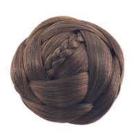Soowee 6 Colors Black Brown Synthetic Hair Pieces Accessories Braided Chignon Hair Bun Cover Donut Roller Headpiece