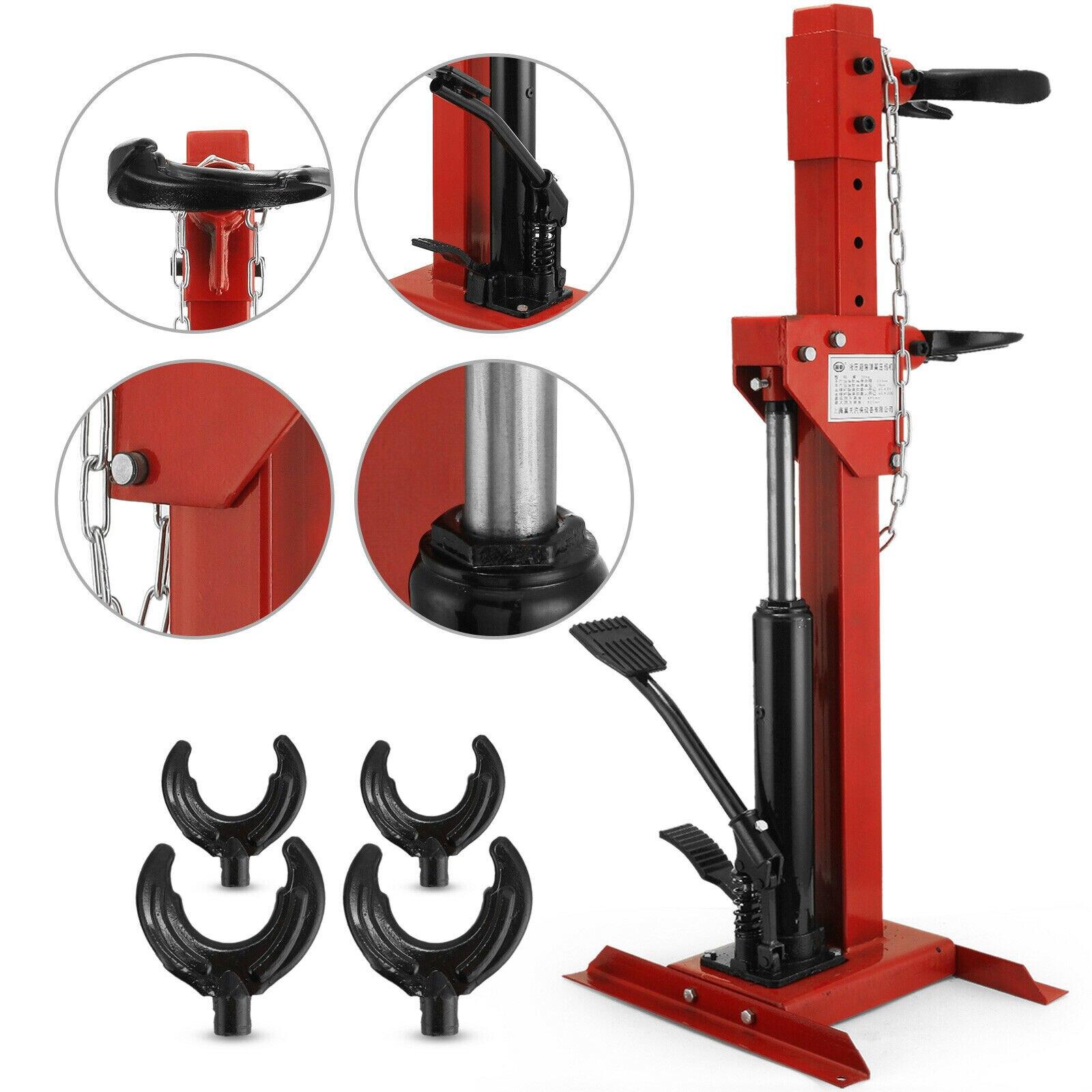 BestEquip 2.5 Ton Strut Spring Compressor Hydraulic Tool Auto Valve Spring Compressor 14Inch Coil Spring Compressor Set