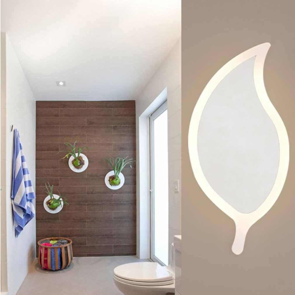 Простой акриловый настенный светильник в форме листа, светодиодные домашние настенные лампы, светодиодный настенный светильник, светильник s для спальни, гостиной, лестницы