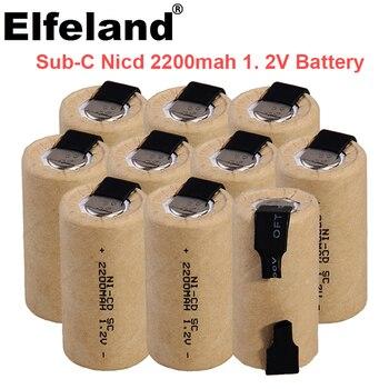 SC 1.2V wkrętarko-wiertarka elektryczna SC bateria 1.2V 2200mah Sub C ni-cd akumulator, z zakładką elektronarzędzia NiCd SUBC batte