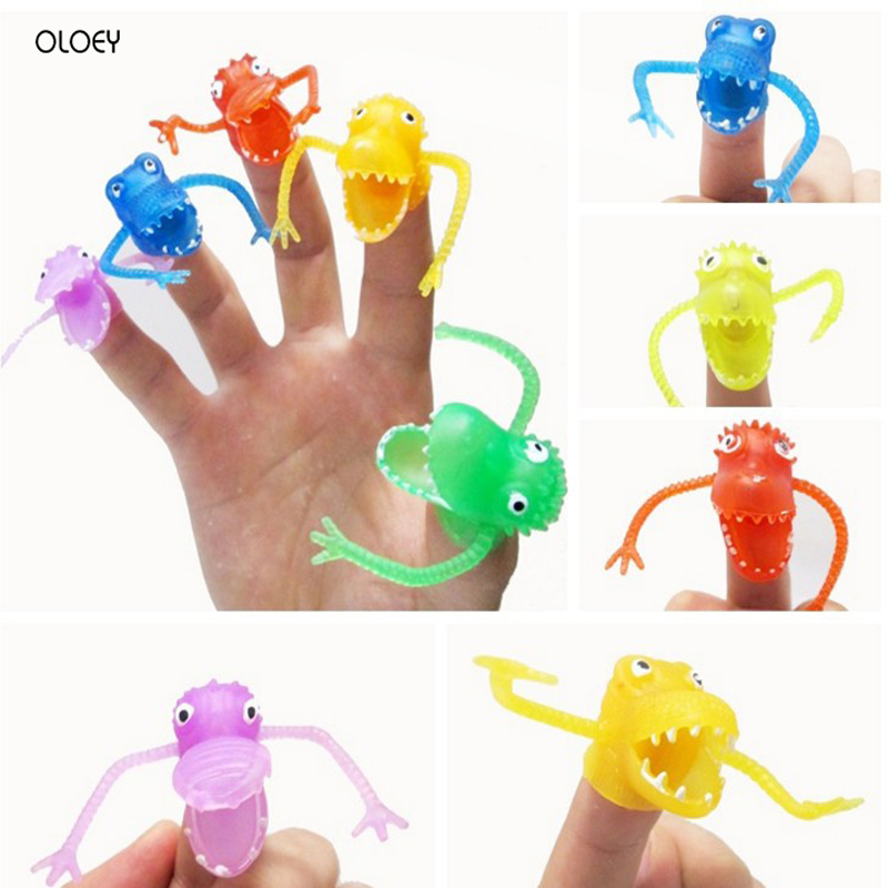 20 Pcs Kawaii New Fright Dinosaur Finger Puppets Assortment Differ Shapes Colors Loot Pinata Party Bag Fillers Favor Party Gift.