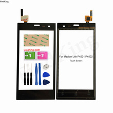 4.5'' Mobile Touch Screen For Medion Life P4501 P4502 Touch Screen Digitizer Touch Panel Sensor Front Glass Tools Adheisve