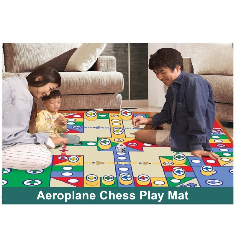 Hot Sale 82*82cm Simply Ludo Pattern Play Mats Baby Activity Blanket Crawling Pad Camping Kids Carpet For Kids Play Games | Happy Baby Mama