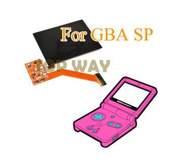 Highlight IPS LCD Screen for Nintend GBA SP Game Console Repair Accessories LCD Screen 5-level Brightness Adjustable OEM