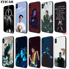 IYICAO Panic At The Disco Soft Black Silicone Case for iPhone 11 Pro Xr Xs Max X or 10 8 7 6 6S Plus 5 5S SE