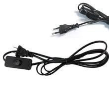 Czarny biały ue usa 2c * 0.75mm 1.8m Online 303 przełącznik wciskany przewód zasilający energooszczędny LED Light przewód elektryczny 250V PVC miedź