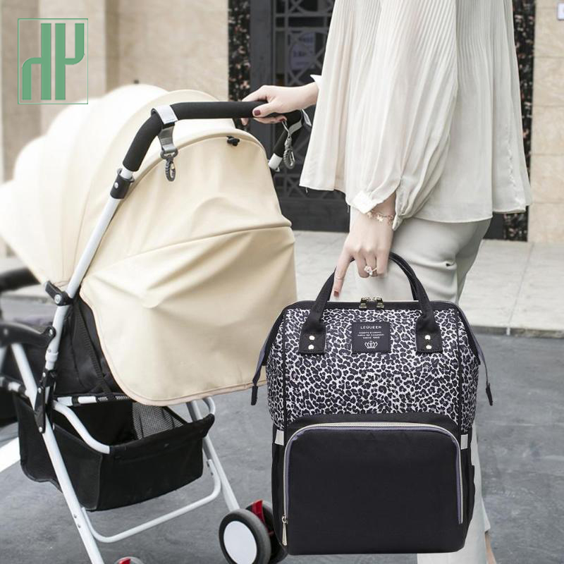 NEW Diaper Bags Backpack Mummy Diaper Bag Handbag Large Capacity Leopard Print Waterproof Maternity Nursing Baby Nappy Backpack