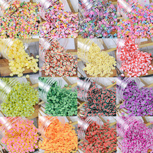 1000 pc/bag # pd10 fatias de frutas prego morangos/abacaxi verão frutas prego design argila polímero minúsculo acrílico prego frutas slices3mm