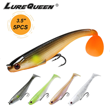 Power Soft Fishing Lures Pre-Rigged BKK Hook, Slow Sinking, Jerking, Freshwater or Saltwater Swimmer for Bass Trout Pike Fishing