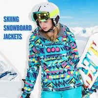 High Quality Ski Snowboard Hoodie For Woman Warm Waterproof Windproof Skiing Snowboarding Jacket Winter Ski Jackets Women 2019