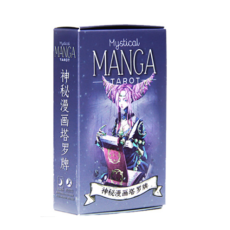 MANGA Tarot Cards Divination Cards Game 12*7cm Cards Chinese/English Version For Family/Friends image