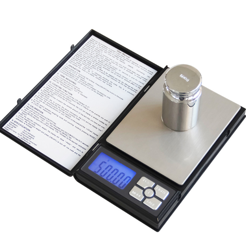 Notebook Small Electronic <font><b>Scales</b></font> <font><b>0.01g</b></font> <font><b>Grams</b></font> Gold Jewelry <font><b>Scales</b></font> 0.1g Kitchen Pockets Palm <font><b>Scales</b></font> Kitchen Accessories image