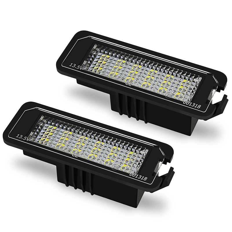2Pcs CANBUS LED Number License Plate Light for VW GOLF 4 5 6 7 Polo Passat 4D Scirocco No Error Tail Lamps Car Lights 12v