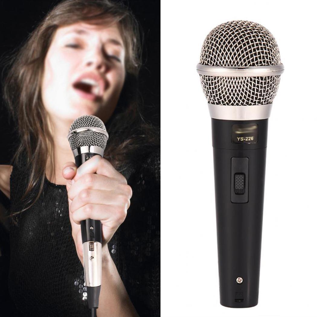 Handheld Professional Wired Dynamic Microphone  For Karaoke Music - 51.5dBV/pa (2.6mV) 1000 Hz Performance